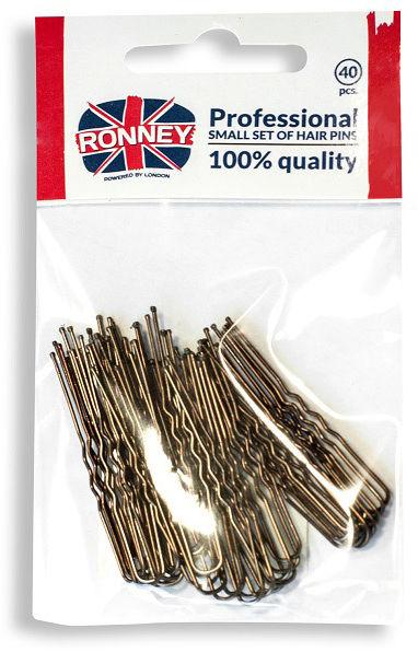 Ronney Profesjonalne kokówki do włosów Krótkie, brązowe 40 szt.