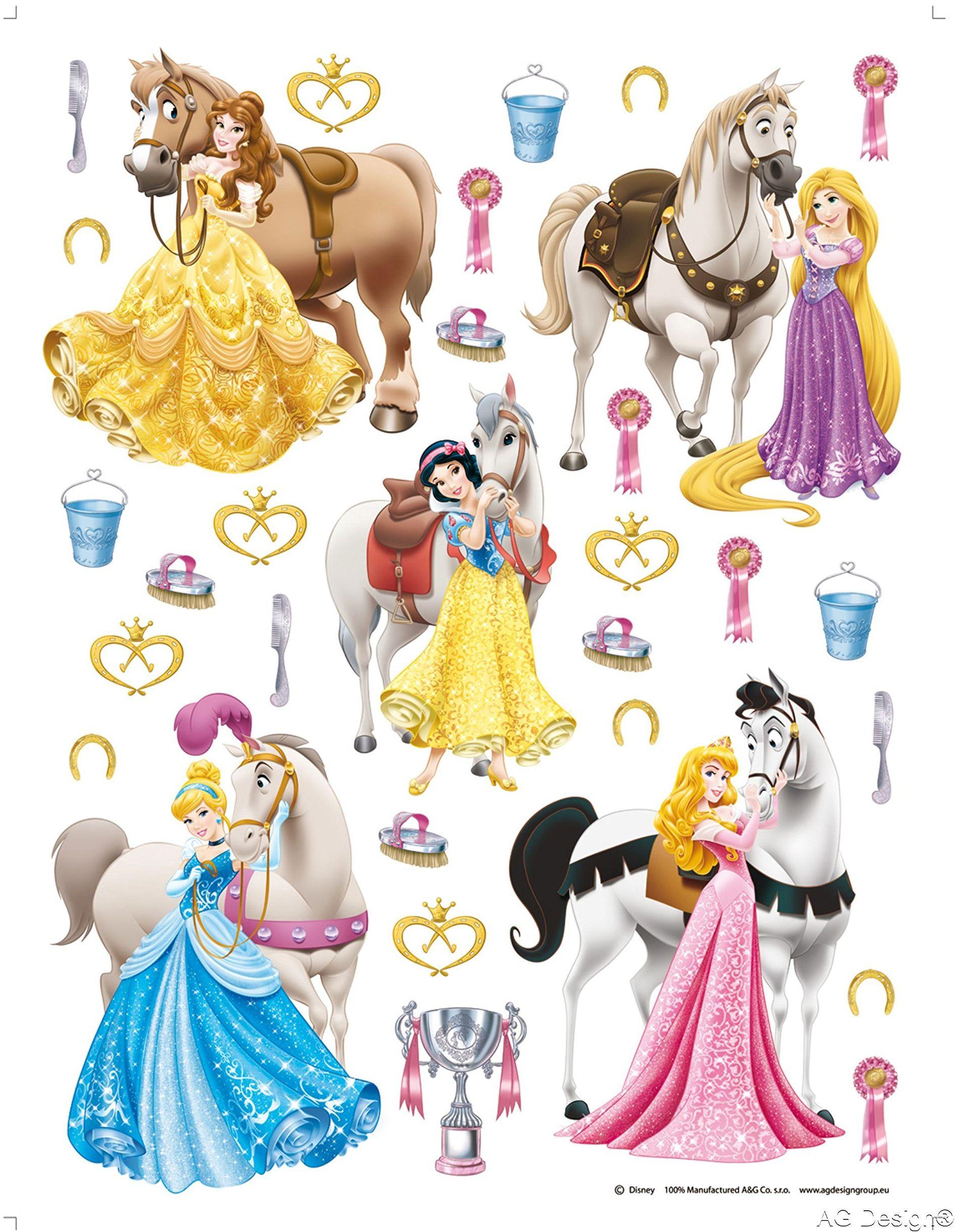 Naklejka ścienna DK 1773 Disney Princess księżniczka