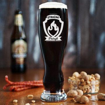 Strażak - Grawerowana Szklanka do piwa