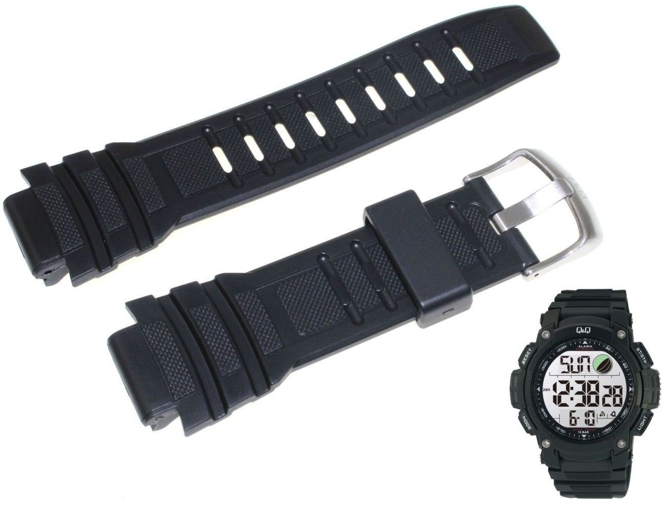 Pasek do zegarka Q&Q M119-001 18 mm Tworzywo