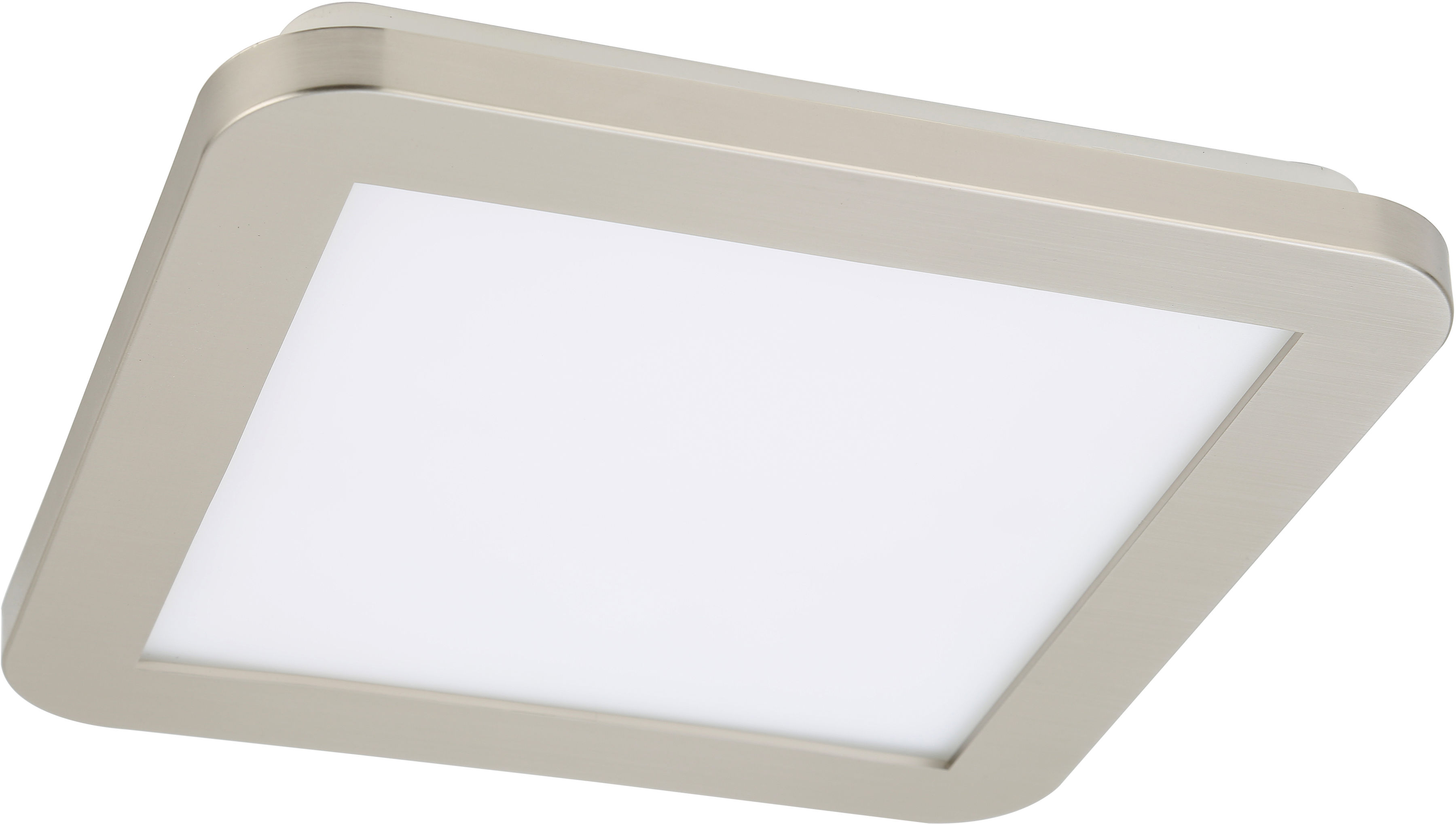Candellux NEXIT 10-66824 plafon lampa sufitowa satyna nikiel+biały regulacja jasności świecenia 12W LED 3000K 22,5cm IP44