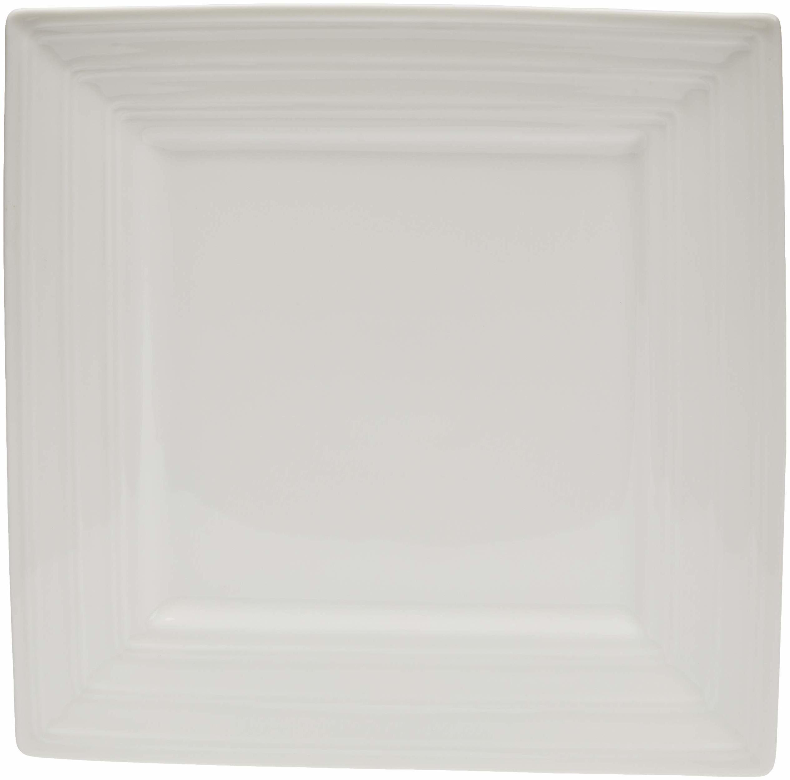 Better & Best P duży półmisek do serwowania, porcelana, biały, kwadratowy z gładką krawędzią, wymiary 25,5 x 25,5 x 3 cm, ceramika