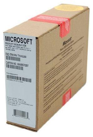 MS Windows Serwer 2003 SBS 1-2CPU 5CLT PL (T72-00675)