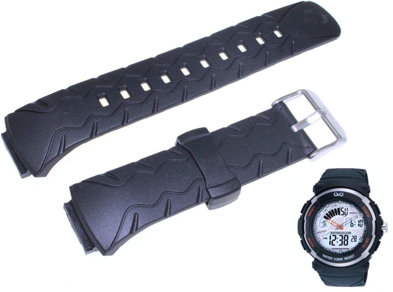 Pasek do zegarka Q&Q M012-001 18 mm Tworzywo