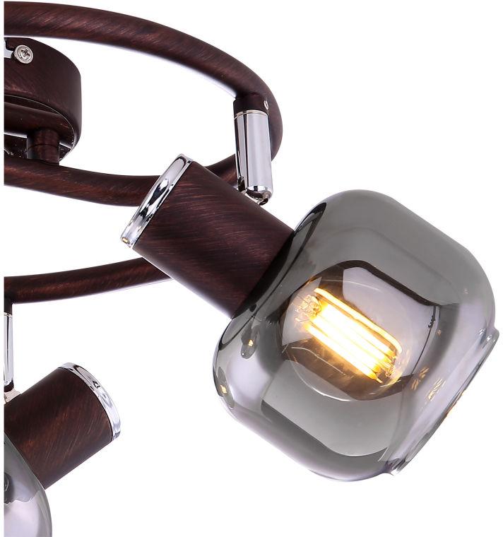 Globo PALLO 54303-3 plafon lampa sufitowa brąz chrom 3xE14 40W 25cm