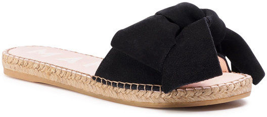 Manebi Espadryle Sandals With Bow K 1.0 J0 Czarny