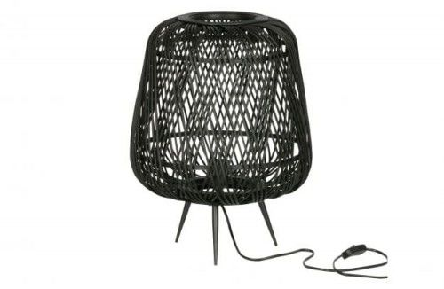 Lampa stołowa Moza bambusowa czarna
