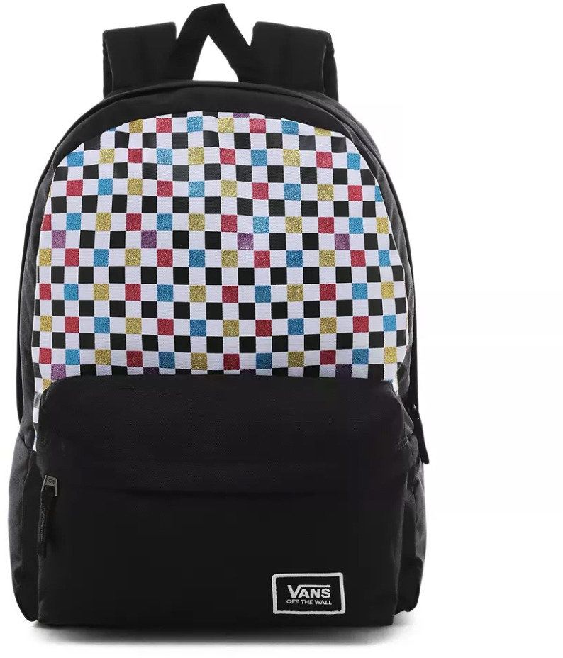 Plecak szkolny Vans Glitter Check Realm - VN0A48HGUX9