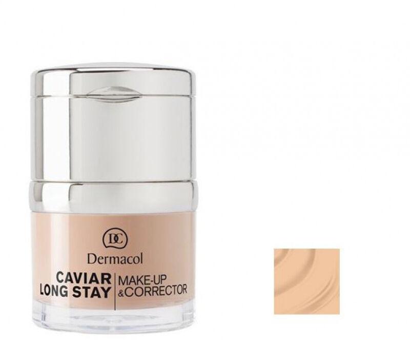 Dermacol - Caviar Long Stay Make-Up & Corrector - Długotrwały podkład i korektor - 1 - PALE