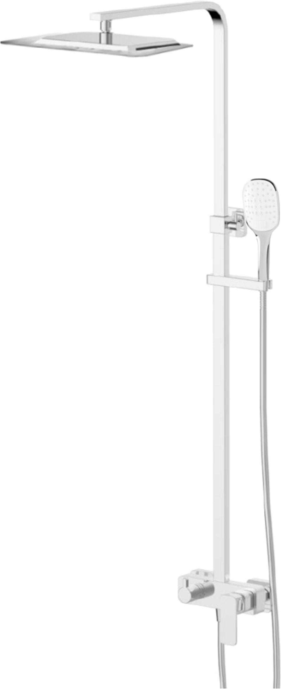 Omnires system prysznicowy mieszacz natynkowy Parma chrom PM7444CR