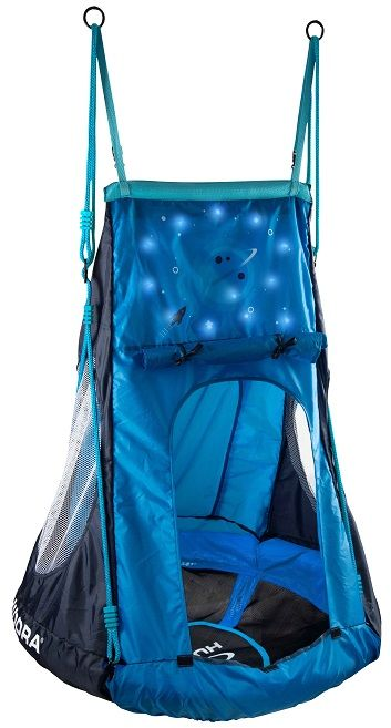 Huśtawka HUDORA bocianie gniazdo z namiotem COSMOS LED