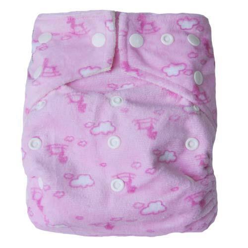 pieluszka wielorazowa dwurzędowa BAMBOO różowy wzór