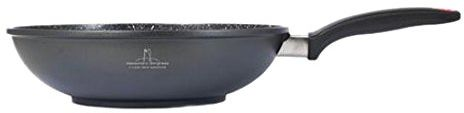 H&H Wok, odlew ciśnieniowy aluminium, czarny, średnica 28 cm, luksusowa borghese prostoty