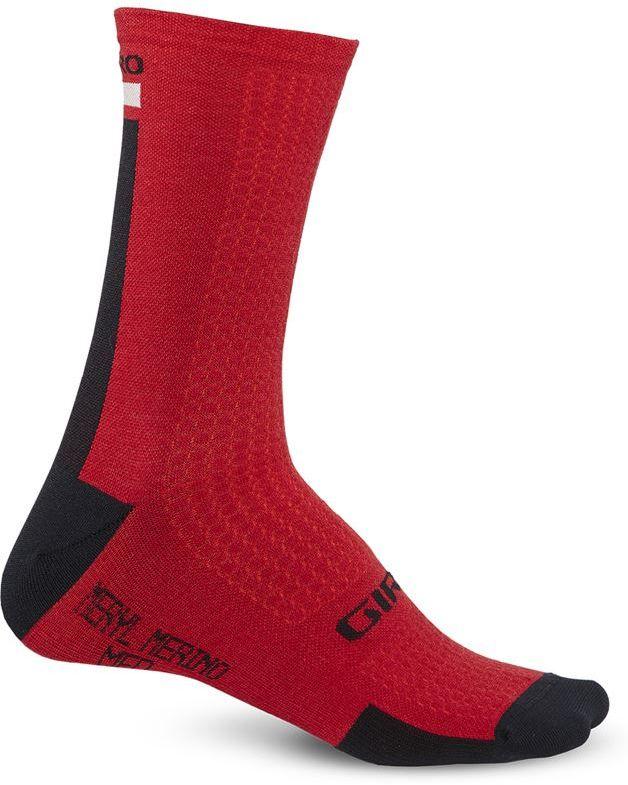 GIRO skarpety rowerowe hrc + merino wool dark red black grey GR-7085804 Rozmiar: 43-45,GR-7085804
