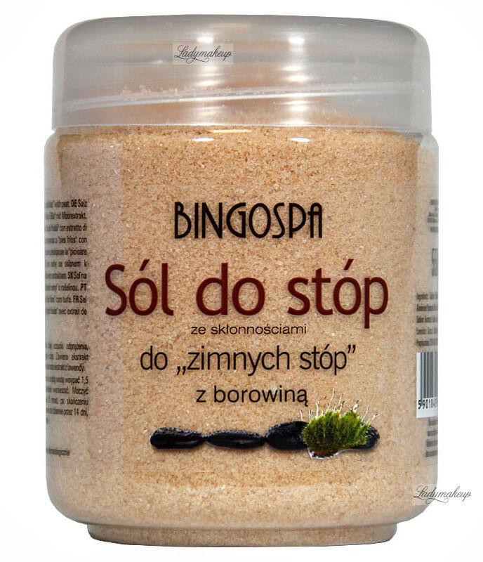 """BINGOSPA - Borowinowa sól do stóp ze skłonnością do """"zimnych stóp"""" - 550g"""