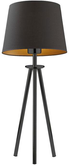 Lampa stołowa trójnóg na czarnym stelażu - EX920-Bergel - 5 kolorów