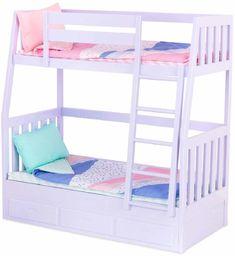Our Generation 70.37882Z zestaw zabawek do łóżka piętrowego, liliowy, dla lalki 18 cali/46 cm