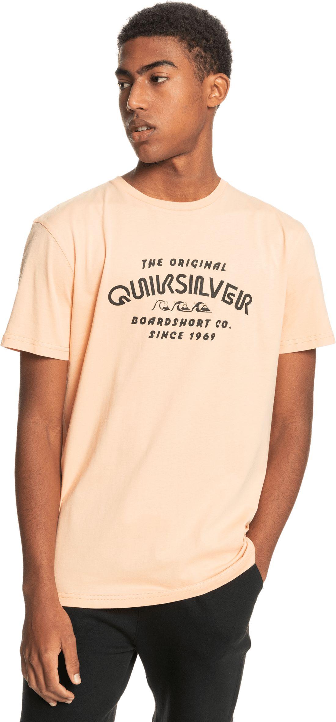 t-shirt męski QUIKSILVER WIDER MILE TEE Apricot - NEZ0