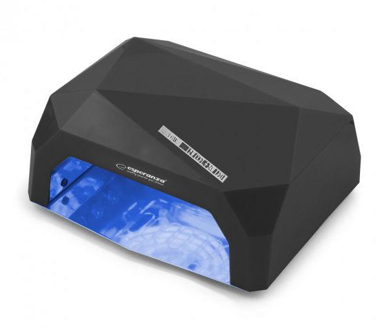 EBN002K Esperanza lampa uv do lakieru hybrydowego onyx 36w czarna