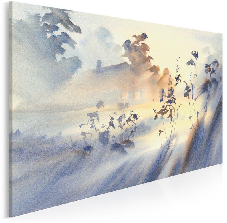 Jedwabna mgła - nowoczesny obraz do sypialni - 120x80 cm