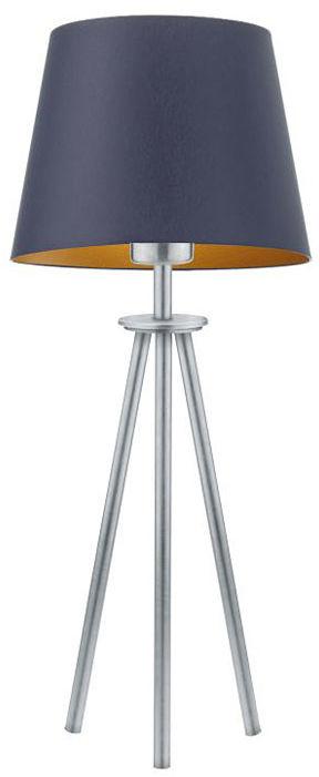 Lampa ze stożkowym abażurem na srebrnym stelażu - EX921-Bergel - 5 kolorów