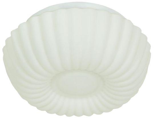 Candellux ALTA 12-12654 plafon lampa sufitowa biała szklany klosz 1X60W E27 25cm