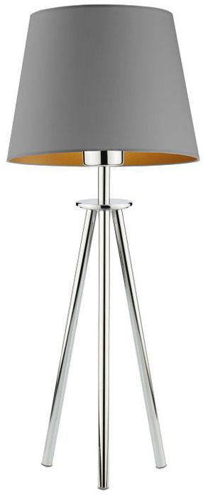 Lampka nocna trójnóg na chromowanym stelażu - EX922-Bergel - 5 kolorów