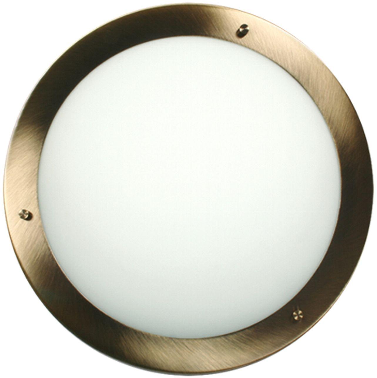 Candellux AQUILA 14-89352 plafon lampa sufitowa patyna szklany klosz 2X60W E27 40cm IP44