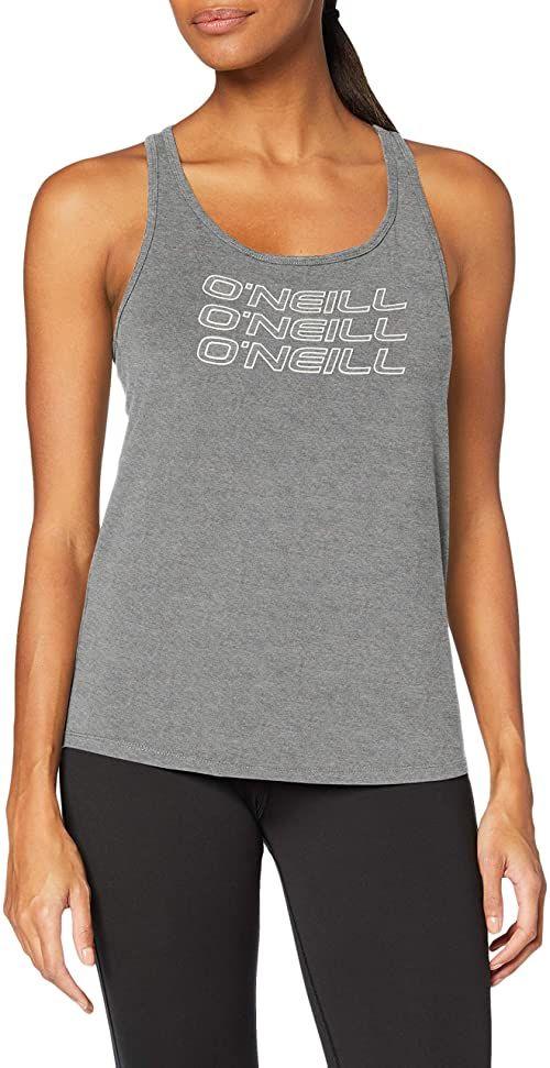 O''Neill Damska koszulka Triple stack racer tanktop T-Shirt, Silver Mel, XS