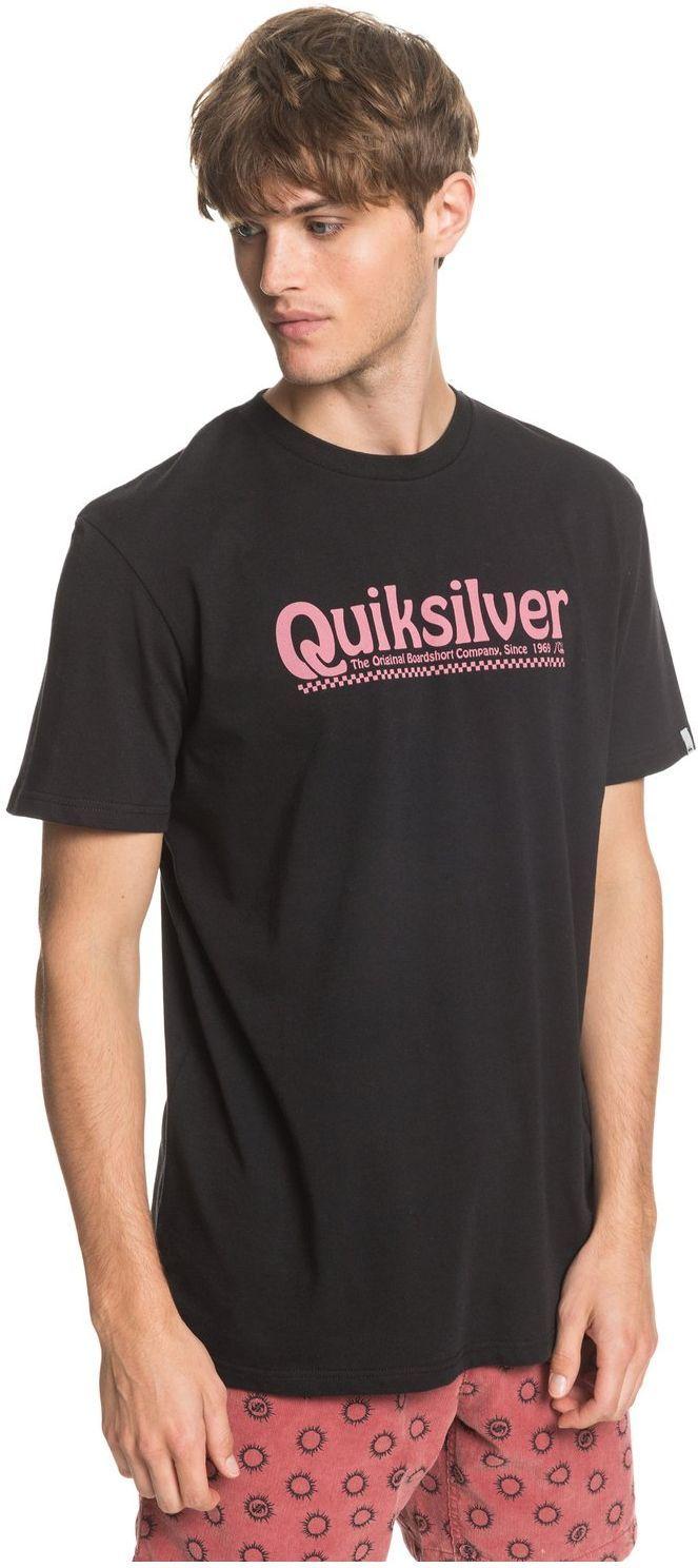 t-shirt męski QUIKSILVER NEW SLANG TEE Black - KVJ0