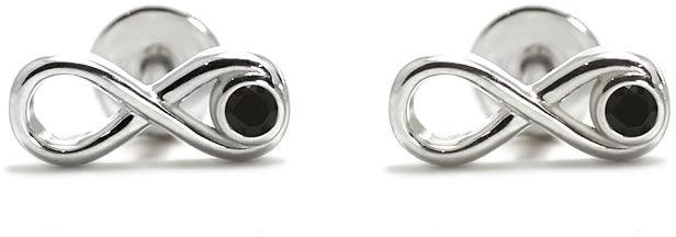Kuźnia Srebra - Kolczyki srebrne, 11mm, Czarny Onyks, 2g, model