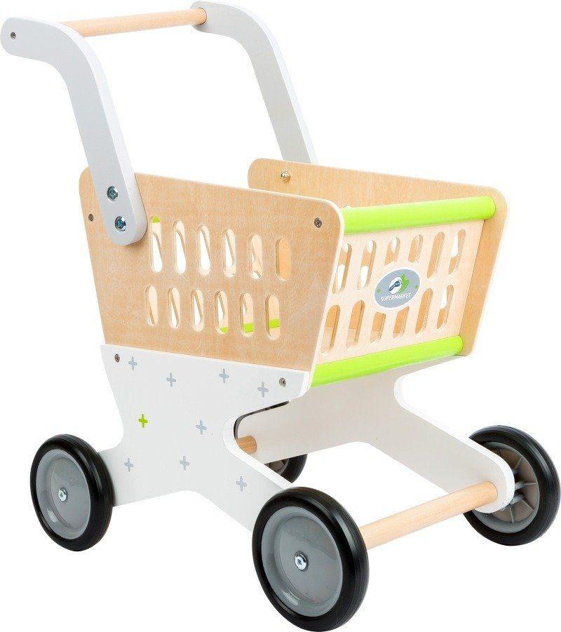 Drewniany wózek na zakupy Pastelowy szyk 11161-Small Foot,zabawki dla dzieci
