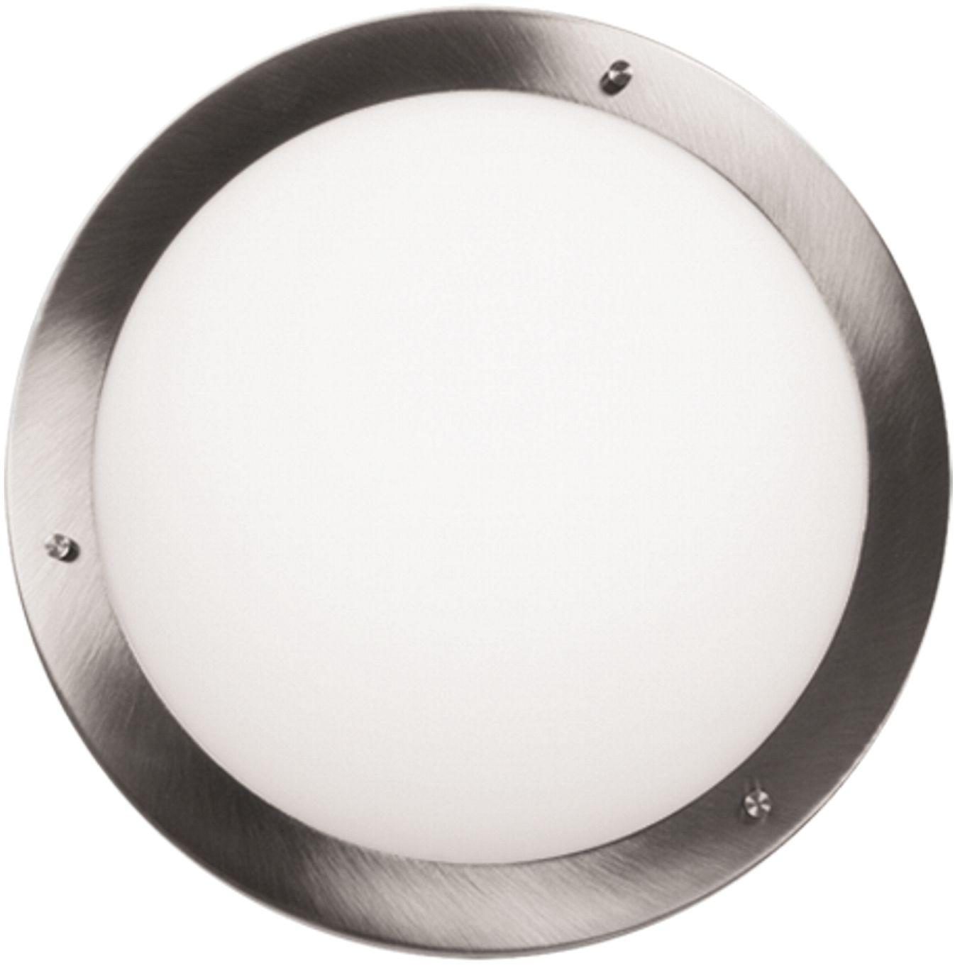 Candellux AQUILA 13-84197 plafon lampa sufitowa satyna nikiel szklany klosz 1X60W E27 31cm IP44