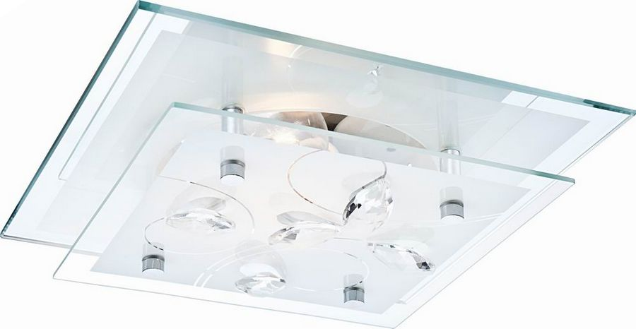 Globo plafon lampa sufitowa Jasmina 40408 szkło kryształy 24cm