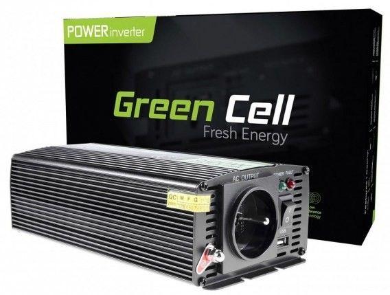 Samochodowa Przetwornica Napięcia Green Cell 12V do 230V 500W/1000W INV03