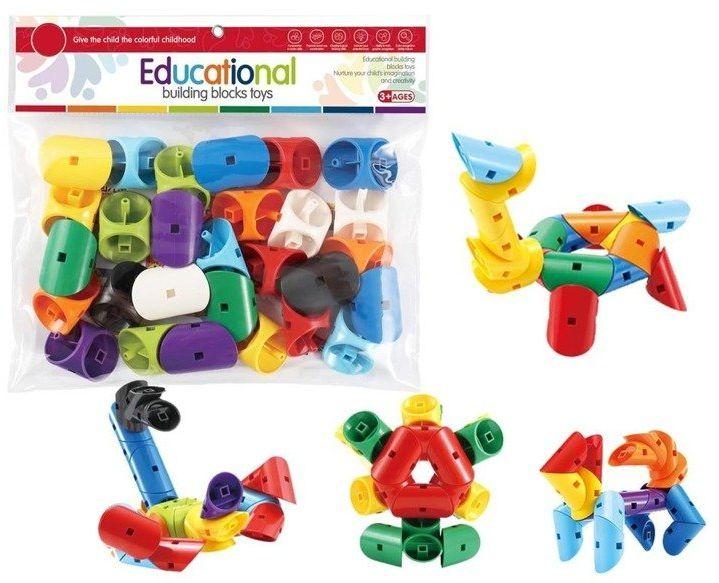Klocki - puzzle 28 elementów - Askato