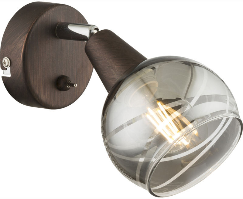 Globo ISLA 54347-1 kinkiet lampa ścienna brąz 1xE14 LED 4W 3000K 15cm