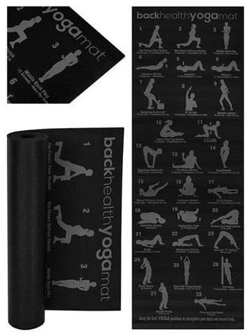 Antypoślizgowa, wodoodporna mata do jogi z programem ćwiczeń na wszystkie partie ciała (Back Health Yoga Mat)