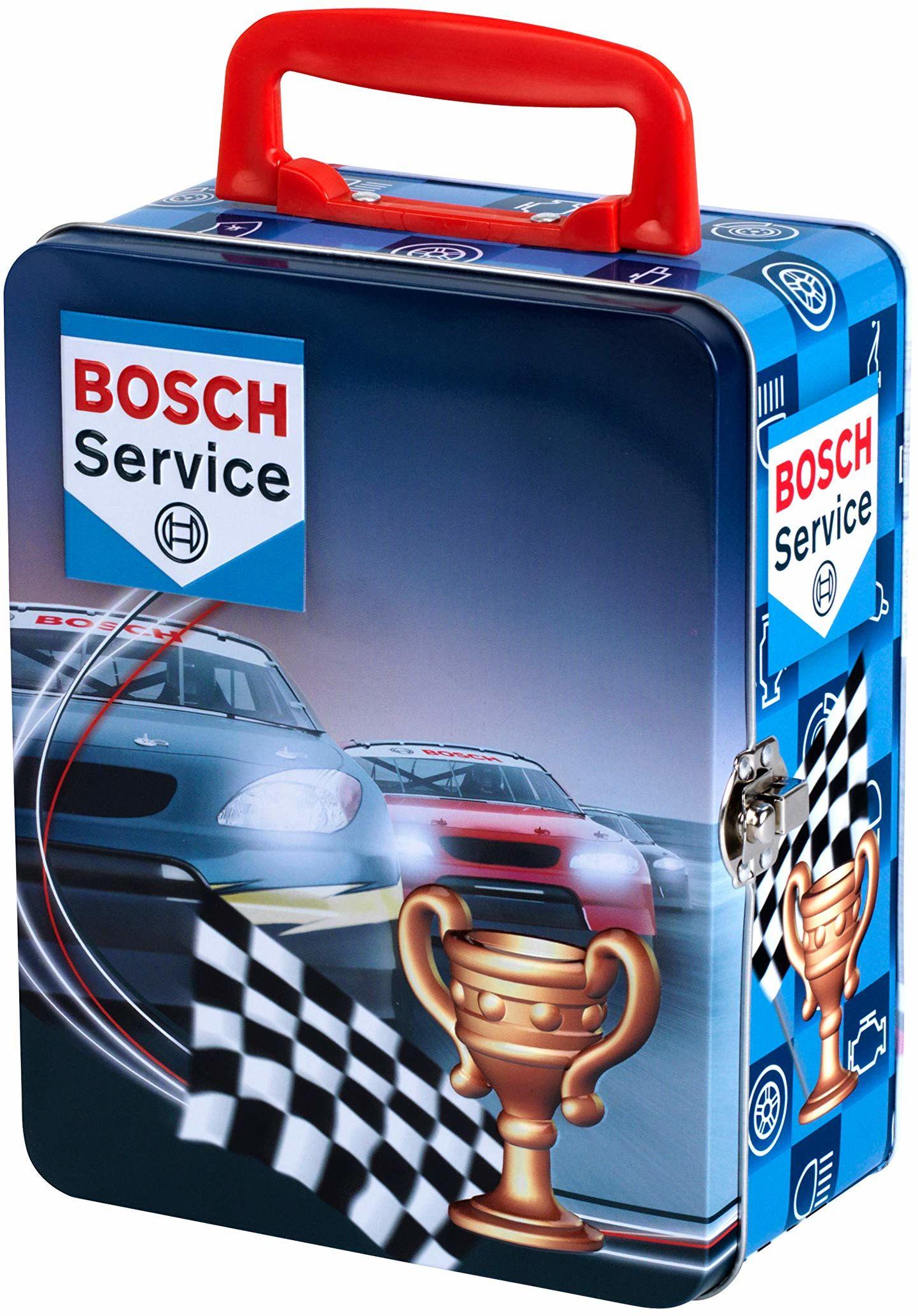 Theo Klein Etui do zbierania cyny firmy Bosch na 18 samochodów (w skali 1:64), zabawka, wielokolorowe