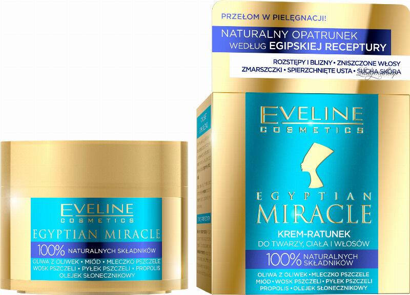 Eveline Cosmetics - EGYPTIAN MIRACLE - Krem-Ratunek do twarzy, ciała i włosów - 40 ml