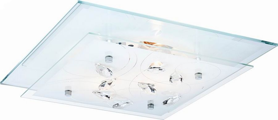 Globo plafon lampa sufitowa Jasmina 40408-3 szkło kryształ 42cm