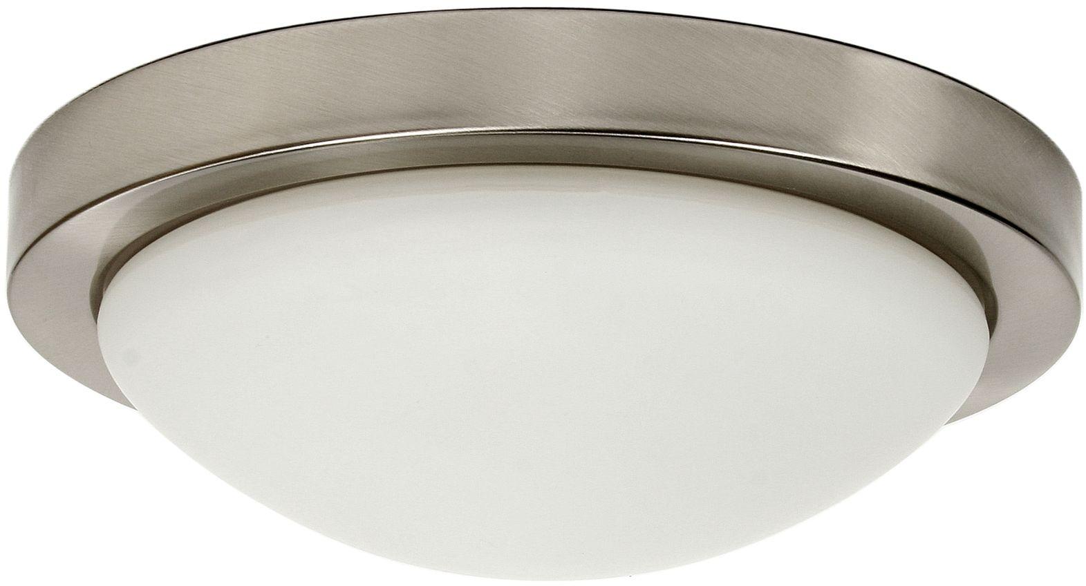 Candellux RODA 13-74037 plafon lampa sufitowa satyna nikiel szklany klosz E27 2X60W 32cm