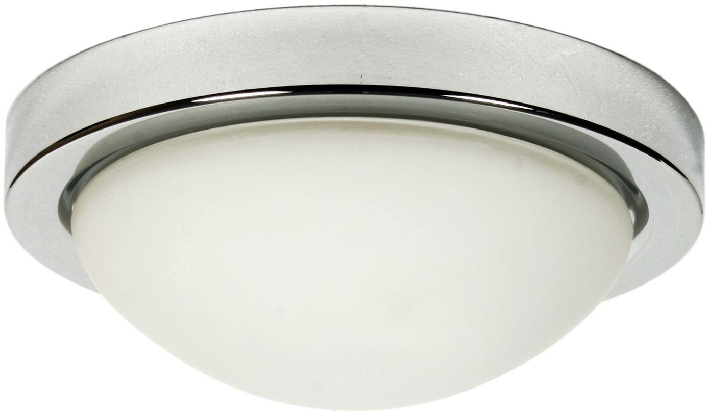 Candellux RODA 13-96923 plafon lampa sufitowa chrom szklany klosz 2X60W E27 32cm IP44