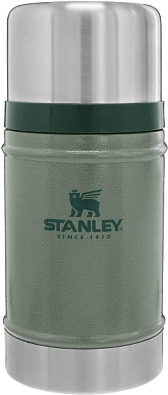 Stanley Classic Legendary Food Jar 0.7L / 24OZ Hammertone Green  Termos do żywności ze Stali Nierdzewnej BEZ BPA - Utrzymuje ciepło przez 15 godzin - Do Mycia w Zmywarce