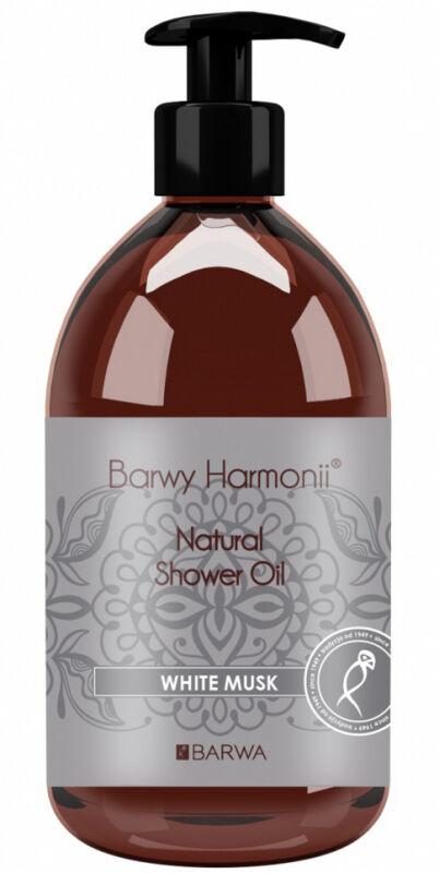BARWA - BARWY HARMONII - Natural Shower Oil - WHITE MUSK - Olejek piżmowy pod prysznic