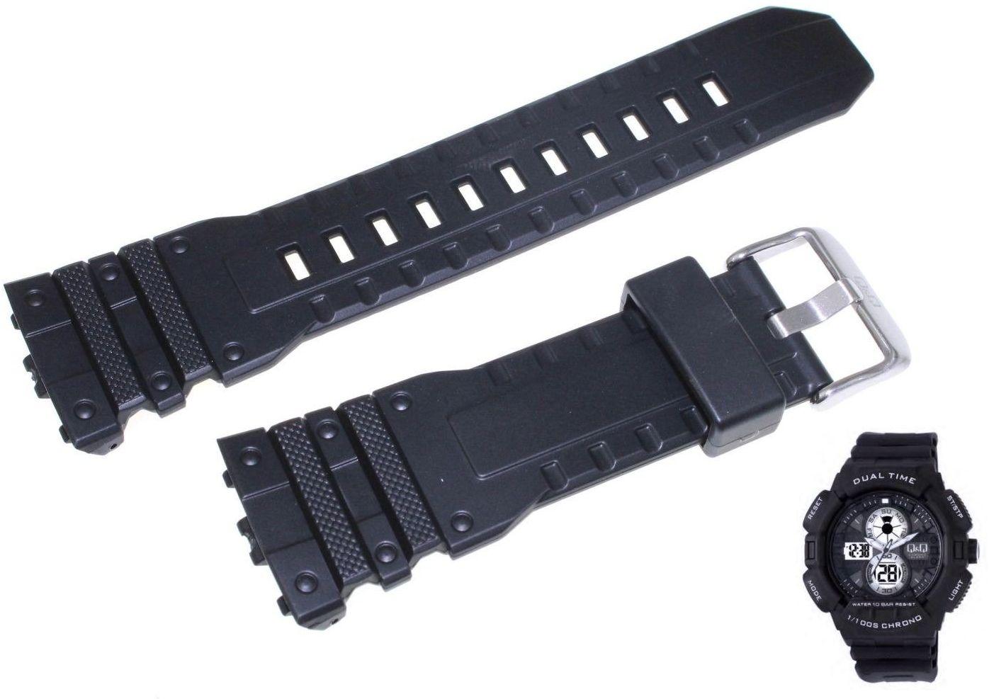 Pasek do zegarka Q&Q GW81-001 28 mm Tworzywo