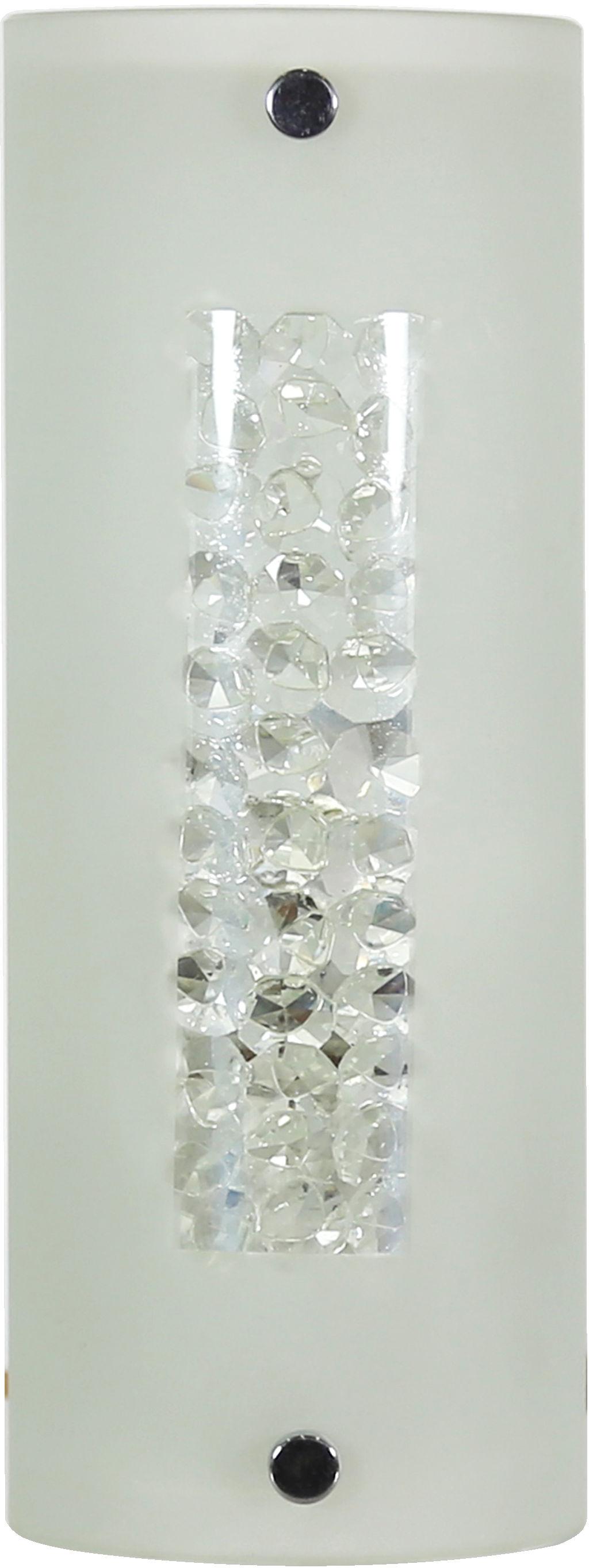 Candellux ABREGO 10-28600 plafon lampa sufitowa szklany klosz kryształki 1X60W E27 24cm