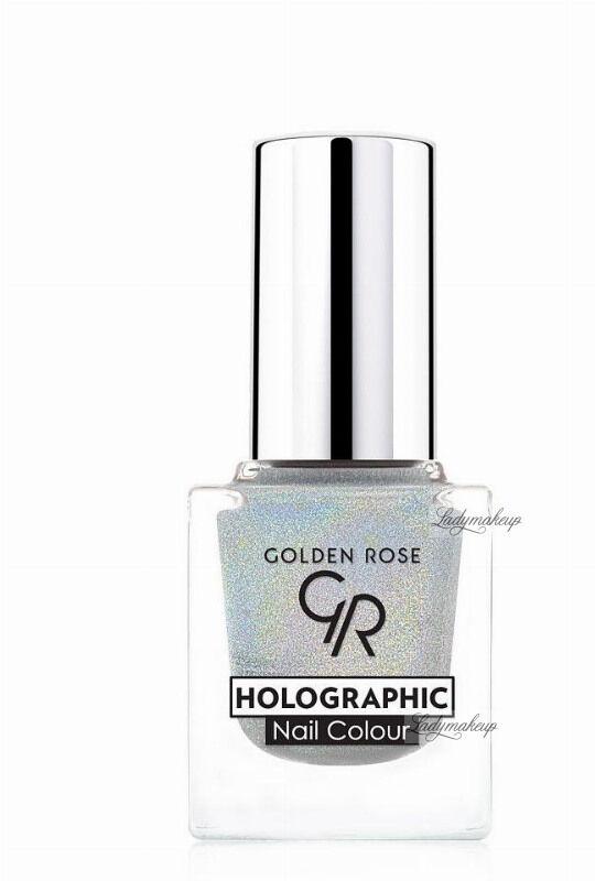 Golden Rose - HOLOGRAPHIC NAIL COLOUR - Holograficzny lakier do paznokci - 01