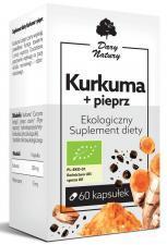 KURKUMA Z PIEPRZEM BIO 60 KAPSUŁEK (555 mg) - DARY NATURY