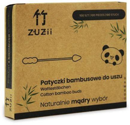 Patyczki higieniczne bambusowe z bawełną (BAŁWANEK - SZPIC) 100 szt Zuzii